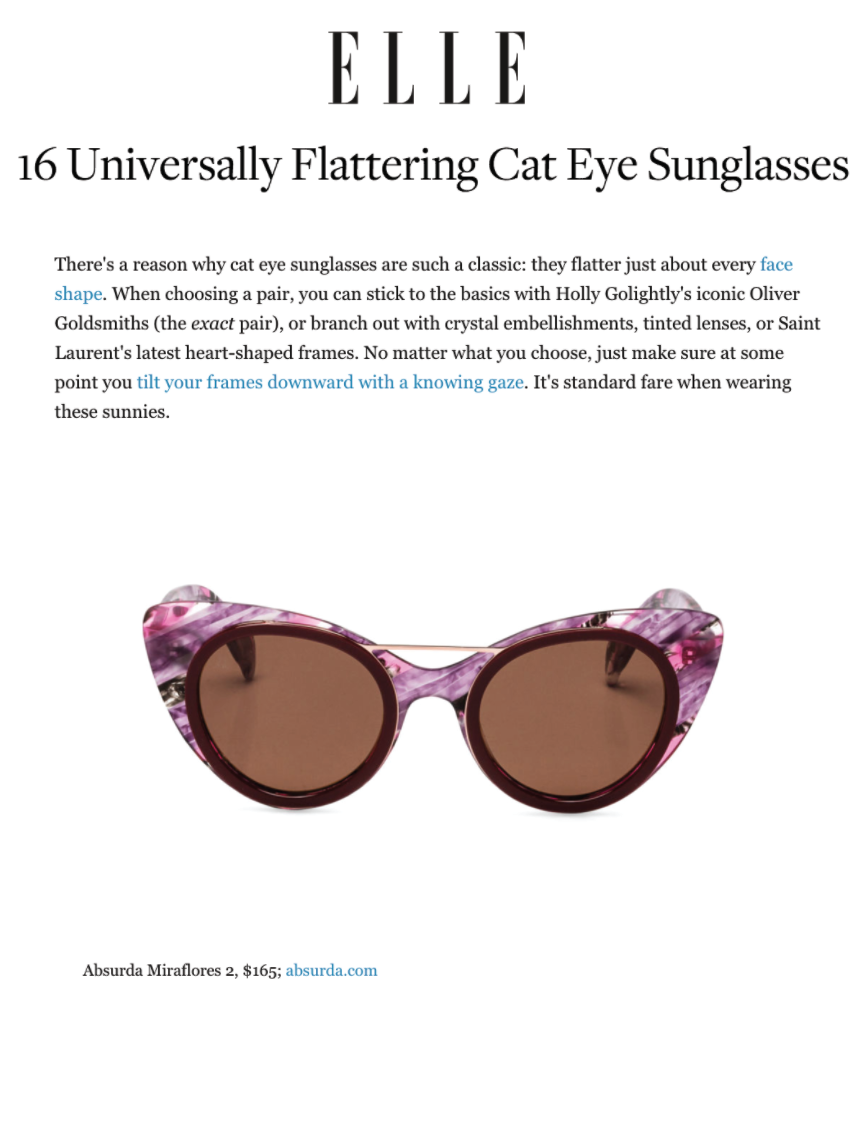 16 Pairs of Cat Eye Sunglasses You'll Want to Wear All the Time