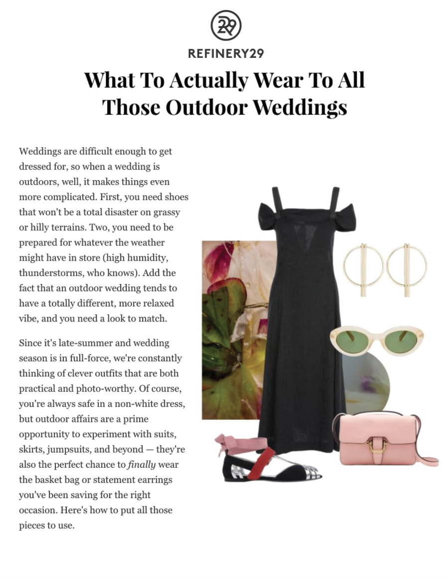 What To Actually Wear To All Those Outdoor Weddings