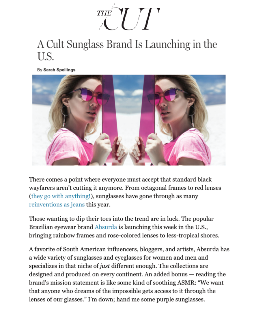 A Cult Sunglass Brand Is Launching in the U.S.