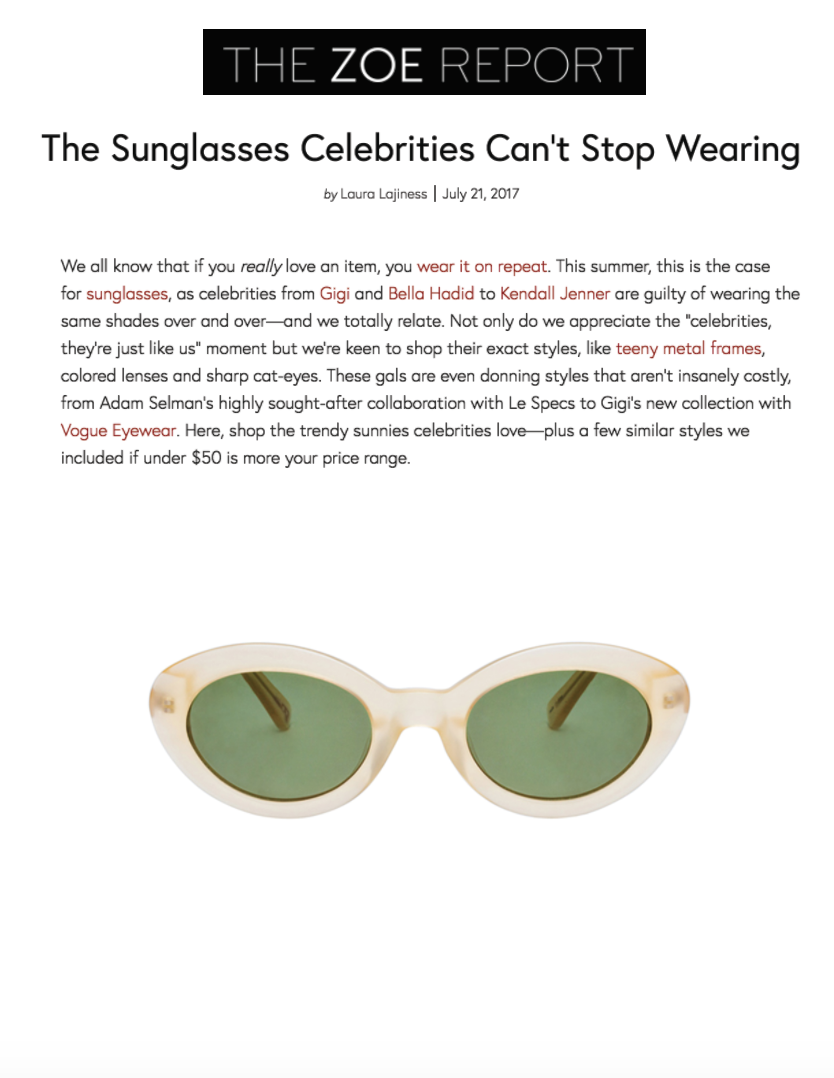 The Sunglasses Celebrities Can't Stop Wearing